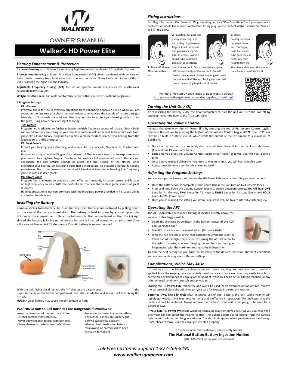 Walkers Game Ear Digital Hd Power Elite User Manual 3 Pages Volume Control Circuit