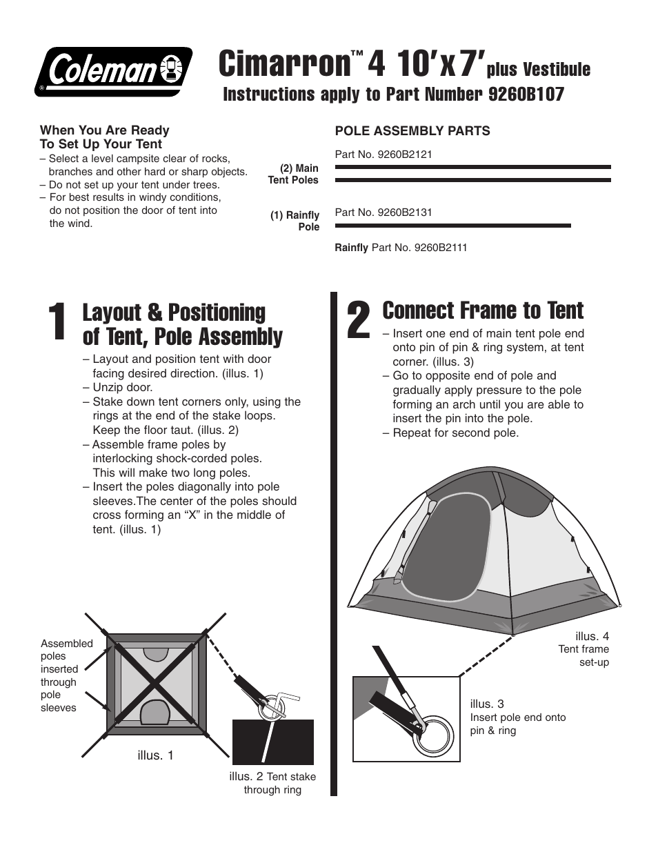 sc 1 st  manualsdir.com & Coleman Cimarron 4 10u0027x7u0027 User Manual | 2 pages