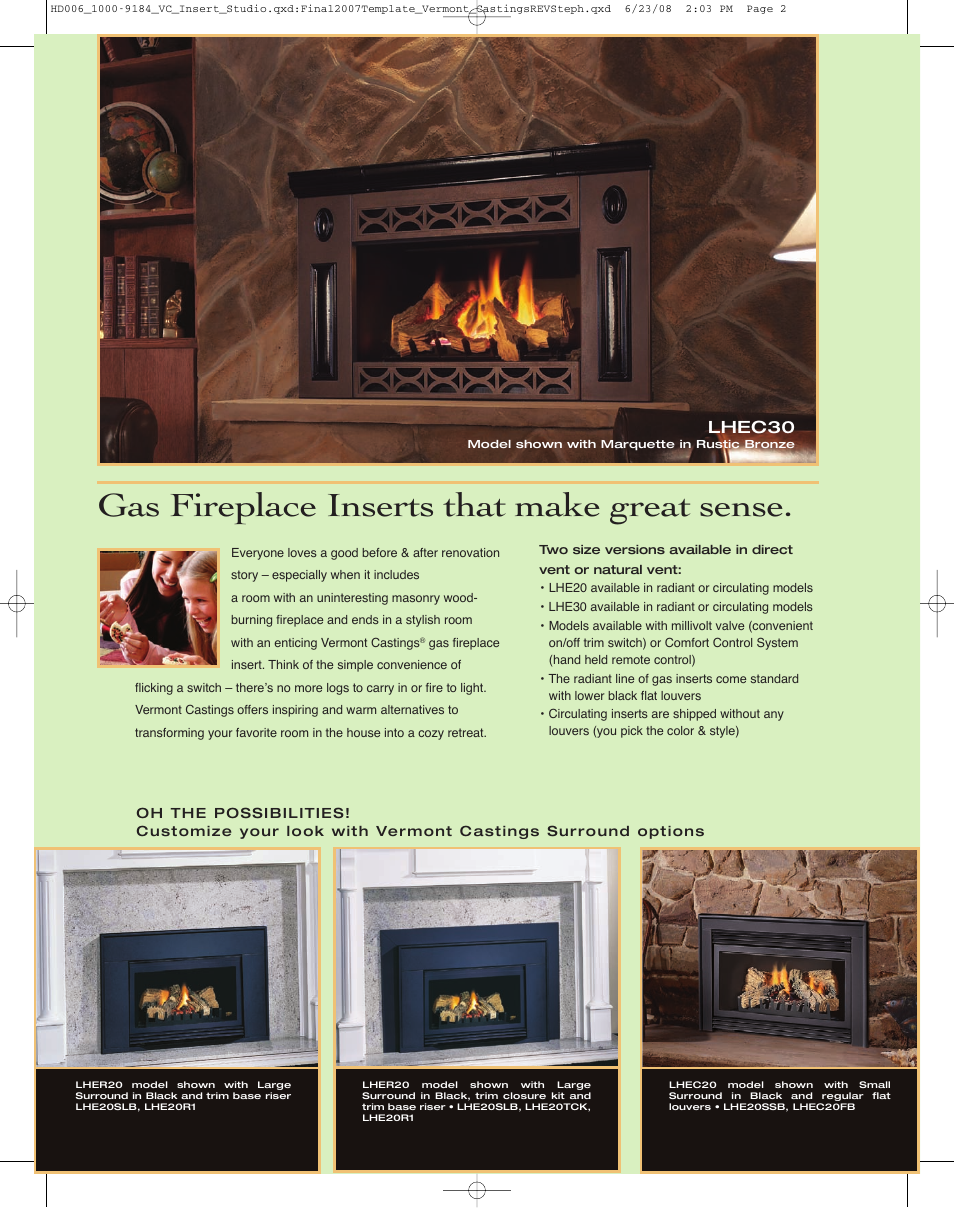 Vermont Castings Gas Fireplace Insert Remote Control Fireplaces