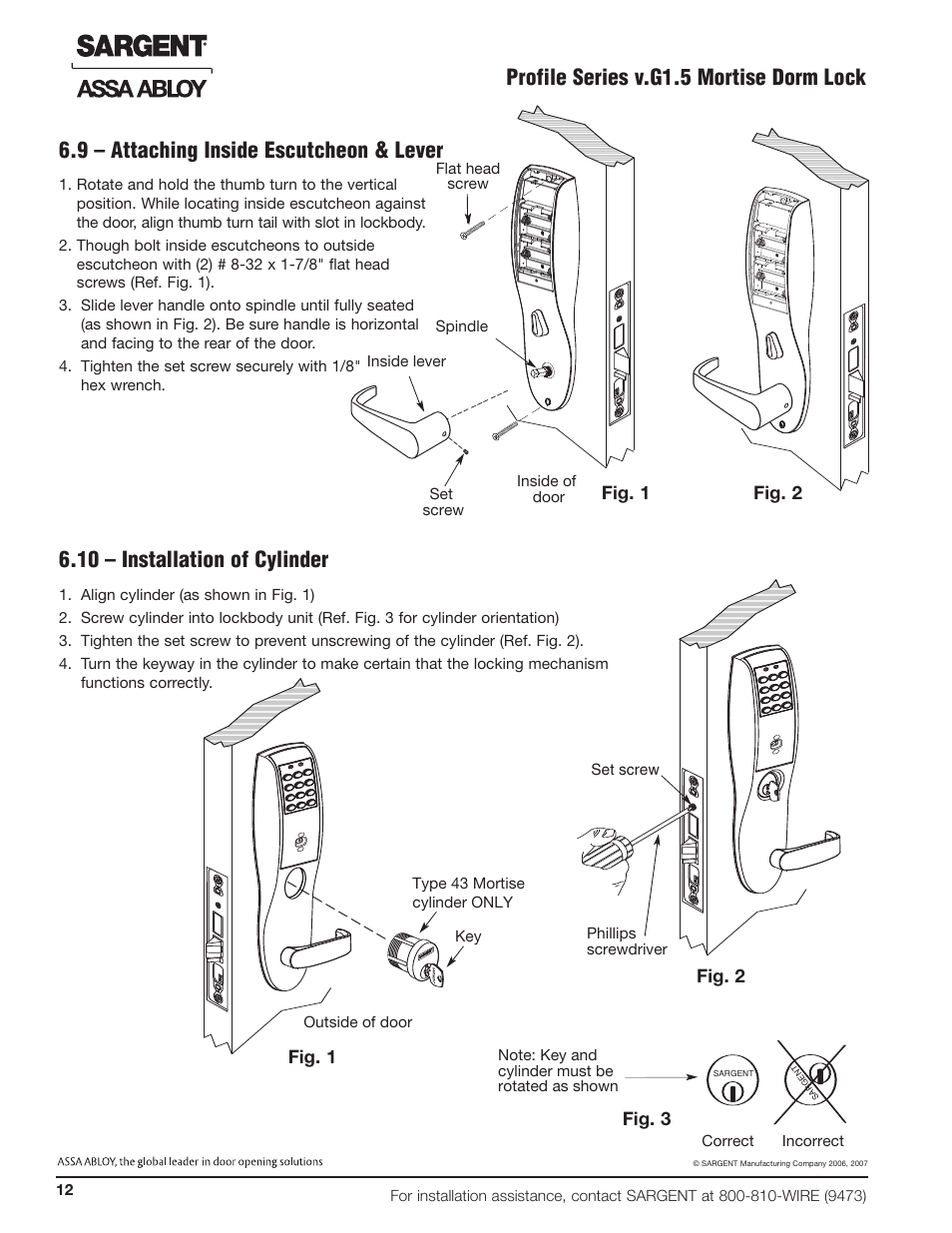 Sargent Cylinders Diagrams Trusted Wiring By Locks 10 Installation Of Cylinder Fig 1 2 3 Grade
