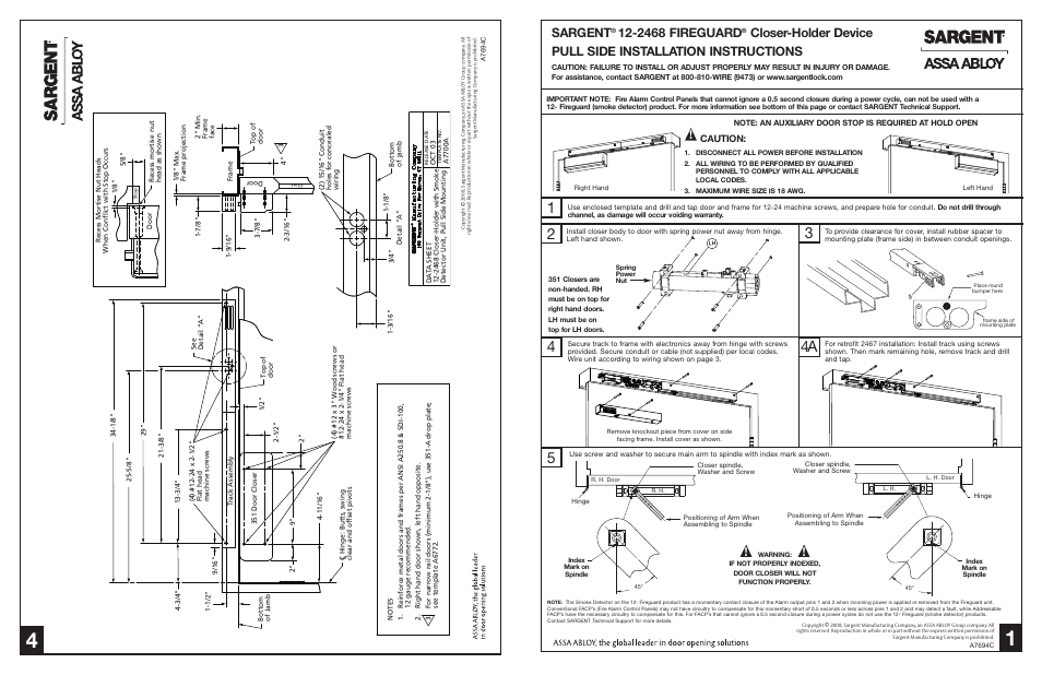 sargent 2408 fire guard electromechanical closer holder page1 lcn 9553 senior swing wiring diagrams wiring diagrams  at n-0.co