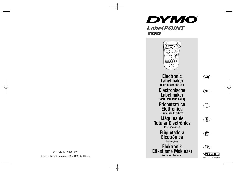 dymo labelpoint 100 user manual 26 pages rh manualsdir com Esselte Film Esselte Binders
