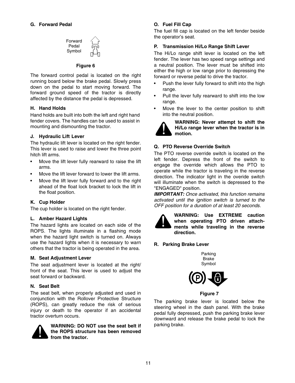 Cub Cadet 5252 User Manual Page 11 56