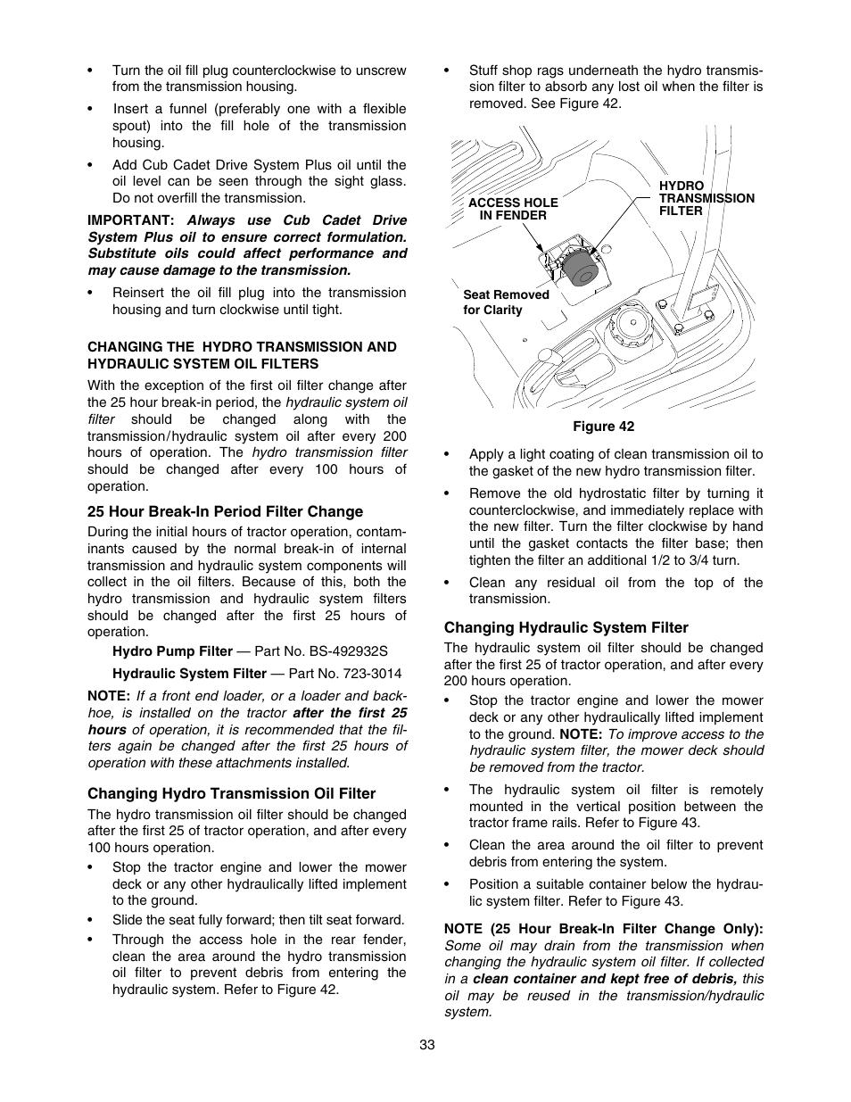 Cub Cadet 5252 User Manual   Page 33 / 56