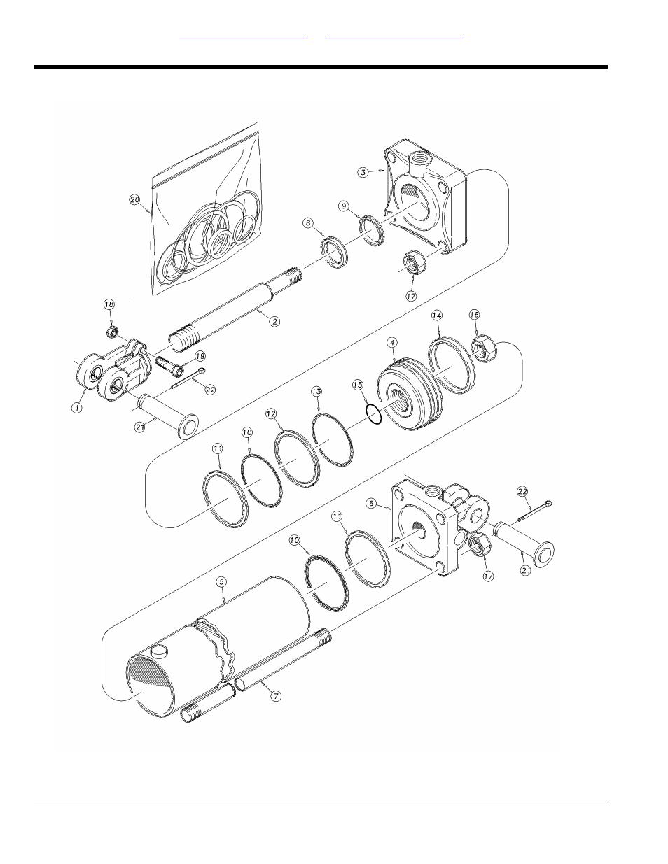 Hydraulic cylinder (810-501c 4x10x1 38 rod) | Great Plains