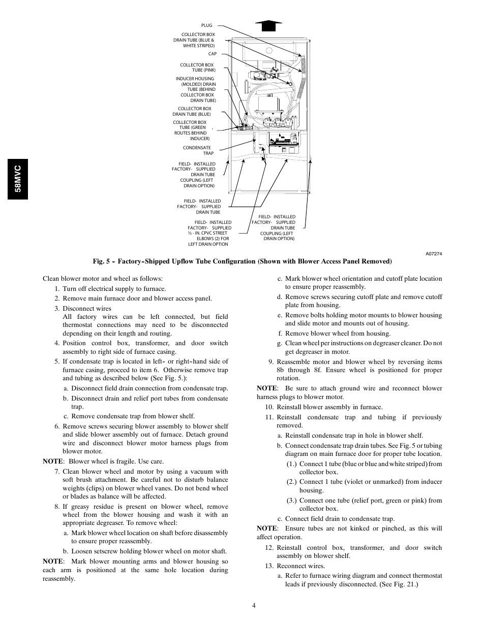 58mv C Carrier Idealcomfort 58mvc User Manual Page 4 20 Disconnect Electrical Motor Connection Diagram