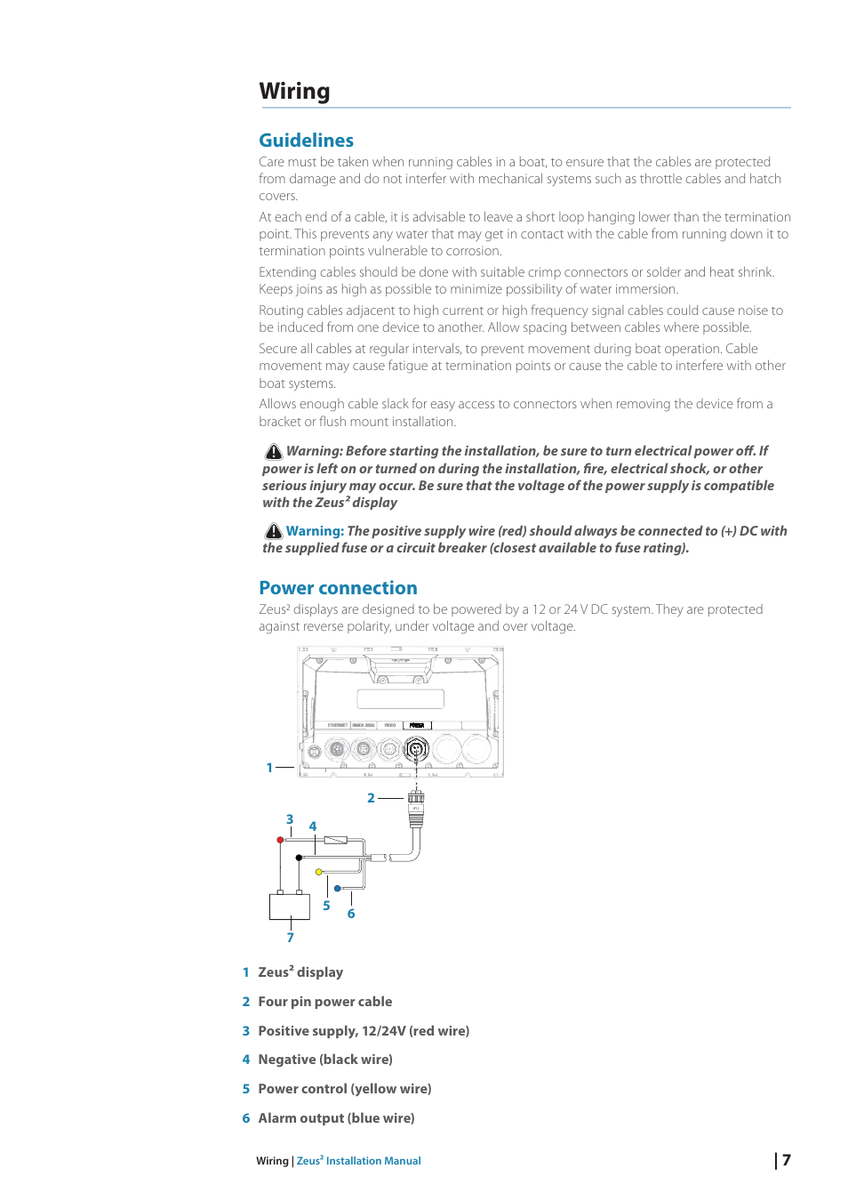 Wiring Guidelines Power Connection Bg Zeus2 12 User Manual Reverse Polarity Page 13 50