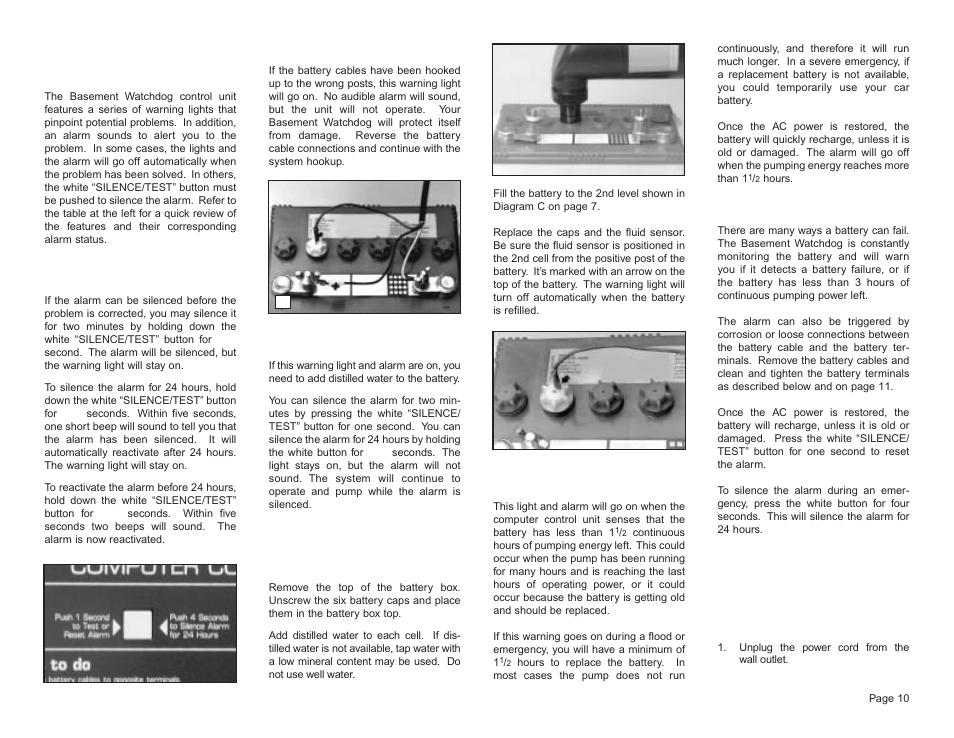 Understanding the warnings u0026 alarms | Basement Watchdog Big Dog User Manual | Page 11 / 16  sc 1 st  manualsdir.com & Understanding the warnings u0026 alarms | Basement Watchdog Big Dog User ...