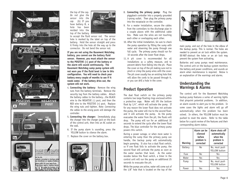 Product operation Understanding the warnings u0026 alarms | Basement Watchdog Big Combo User Manual |  sc 1 st  Directory of Instruction Manuals and User Guides | manualsdir.com & Product operation Understanding the warnings u0026 alarms | Basement ...