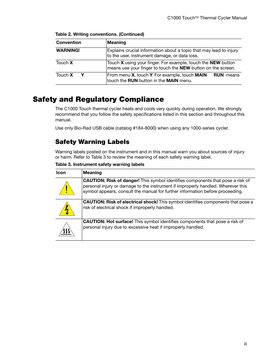Safety And Regulatory Compliance Safety Warning Labels Bio Rad