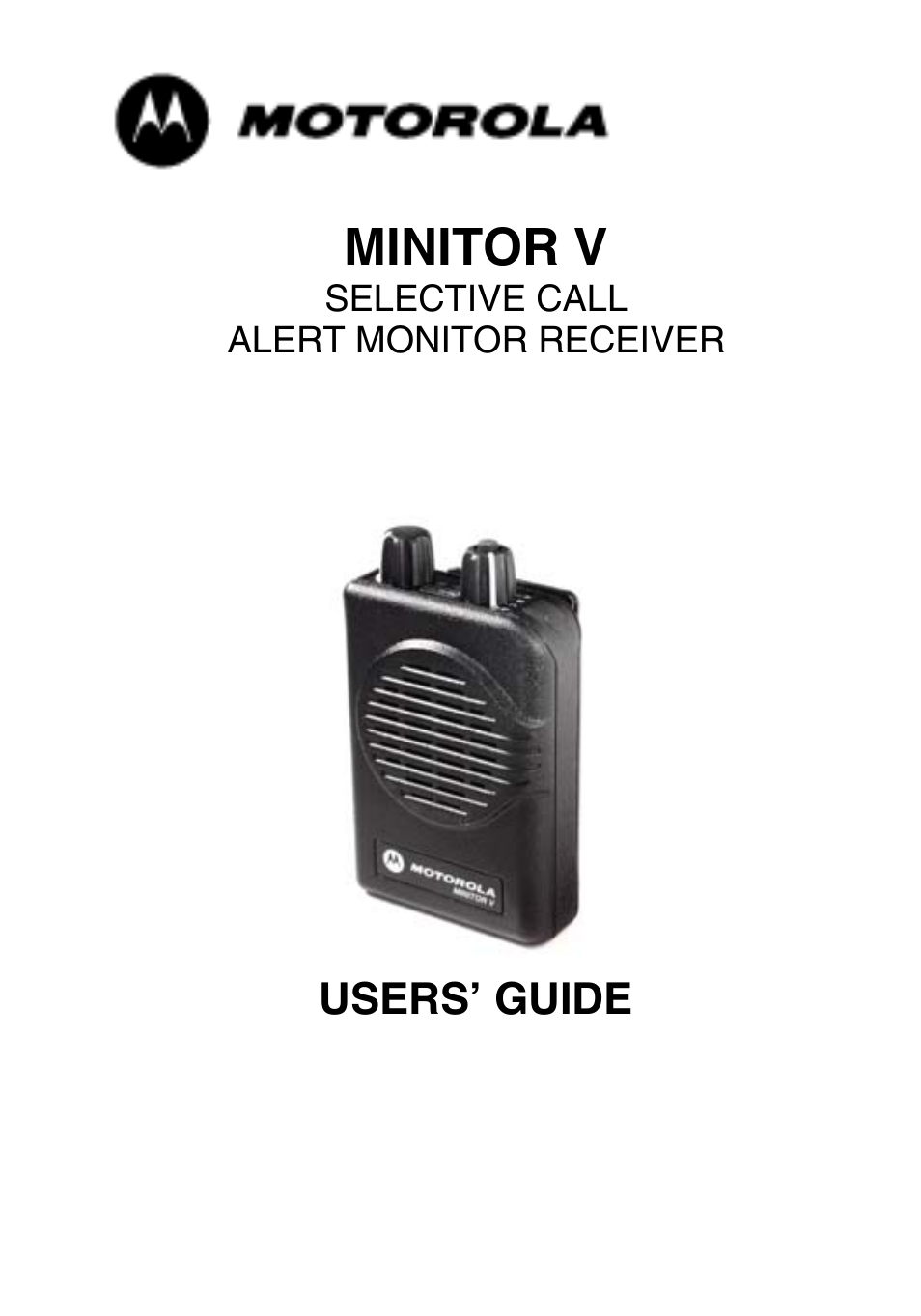 motorola minitor v user manual 17 pages rh manualsdir com motorola minitor v user guide pdf minitor vi user guide