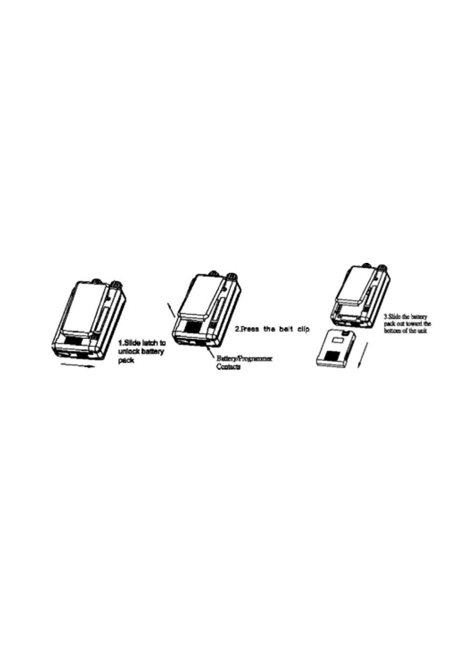 battery installation motorola minitor v user manual page 5 17 rh manualsdir com motorola minitor iv manual motorola minitor v service manual
