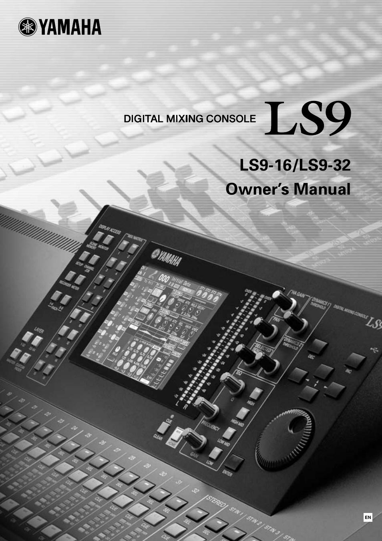 yamaha ls9 user manual 290 pages rh manualsdir com yamaha ls9-16 service manual yamaha digital mixing console ls9-16 manual