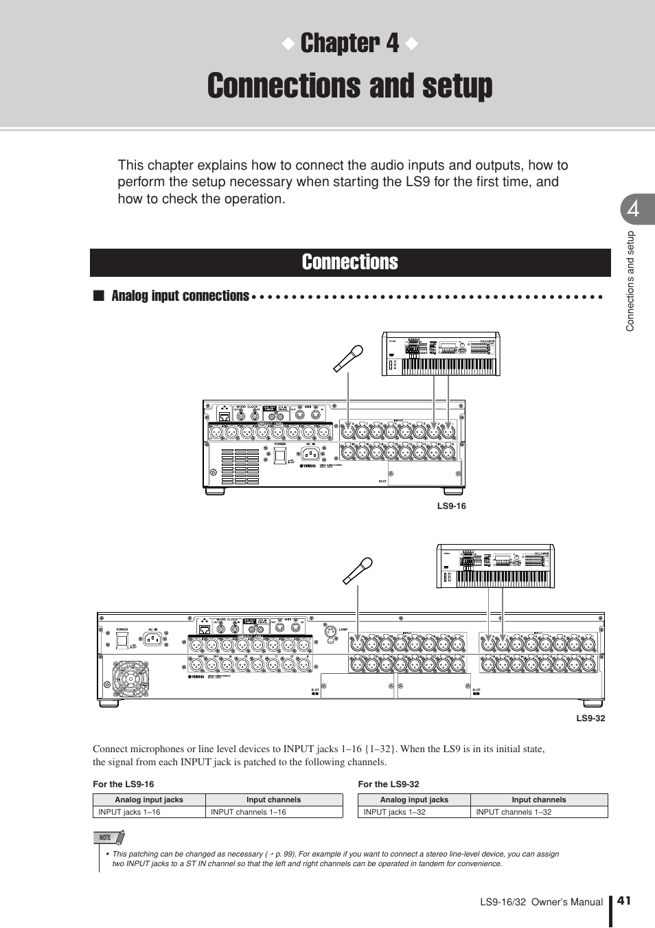 ... Array - connections and setup connections chapter 4 yamaha ls9 user rh  manualsdir com