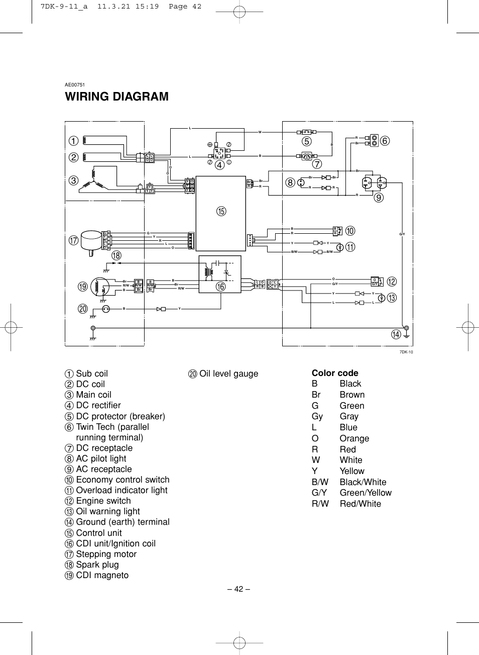 Yamaha Generator Wiring Diagram Detailed Diagrams G2 Starter Free Picture Ef2000is User Manual Page 47 62 Boat