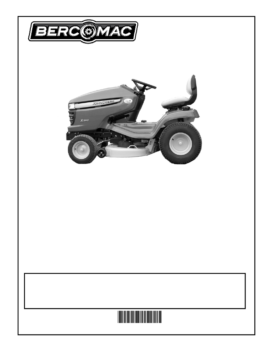 Bercomac Subframe & Drive Mechanism for JOHN DEERE Series X300 User Manual  | 28 pages | Also for: Subframe & Drive Mechanism for JOHN DEERE Series  X304, ...
