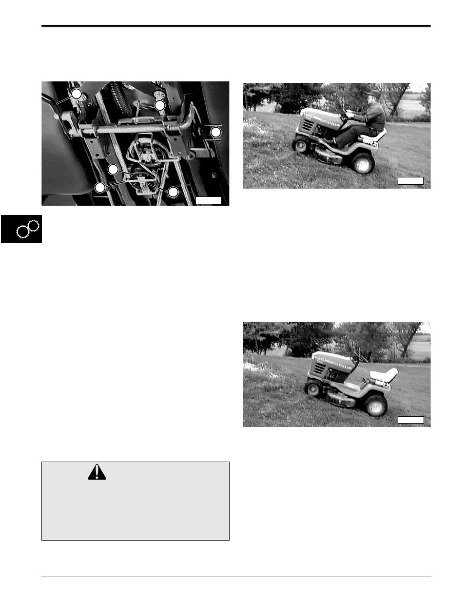 Caution Clutch Spring Adjustment John Deere Stx38 User Manual Transmission Diagram Brake And Pedal Parts Page 200 314