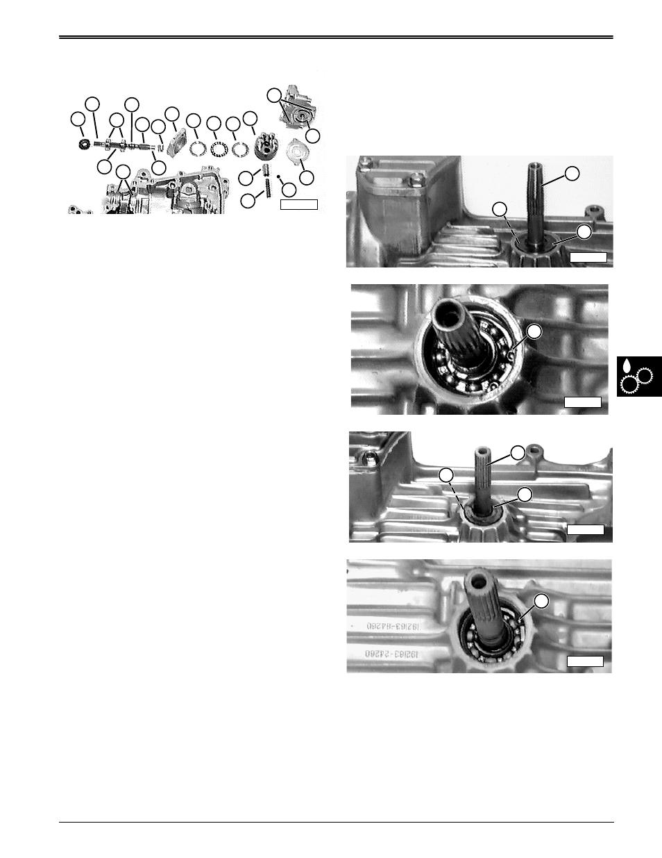 Transaxle assembly, Repair | John Deere stx38 User Manual | Page 273