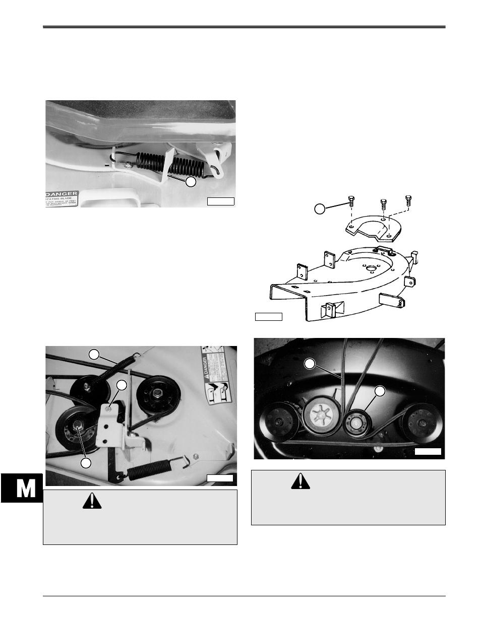 Caution  Blade Drive Belt Removal   Installation U2014stx30