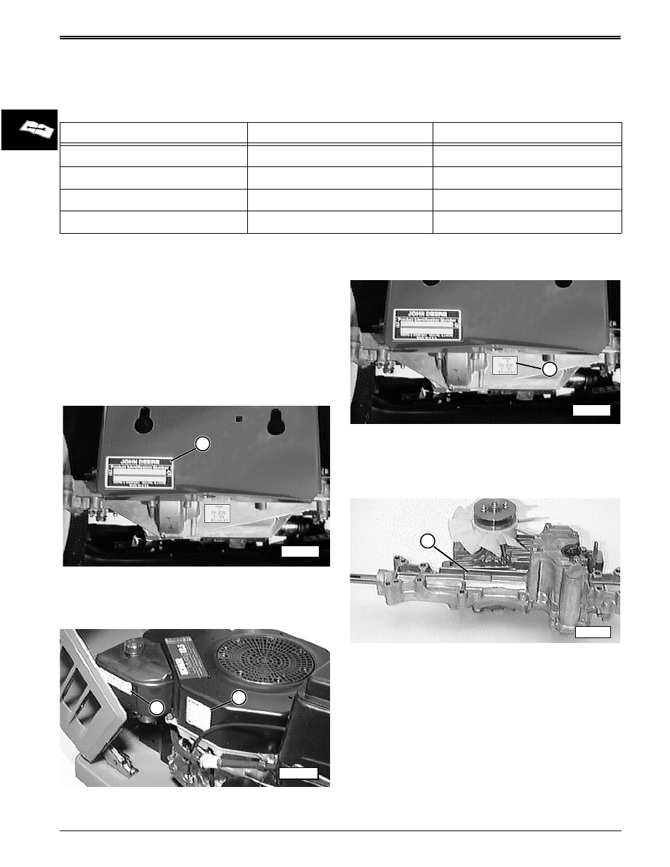 Serial identification number locations tractor identification serial identification number locations tractor identification number engine serial number john deere stx38 user manual page 32 314 sciox Images