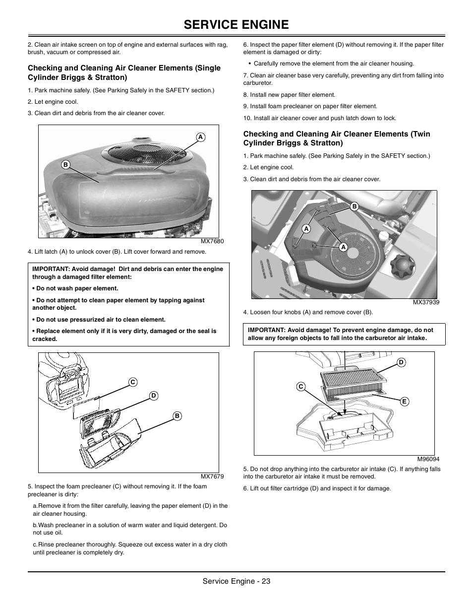 John Deere Z425 User Manual Manual Guide