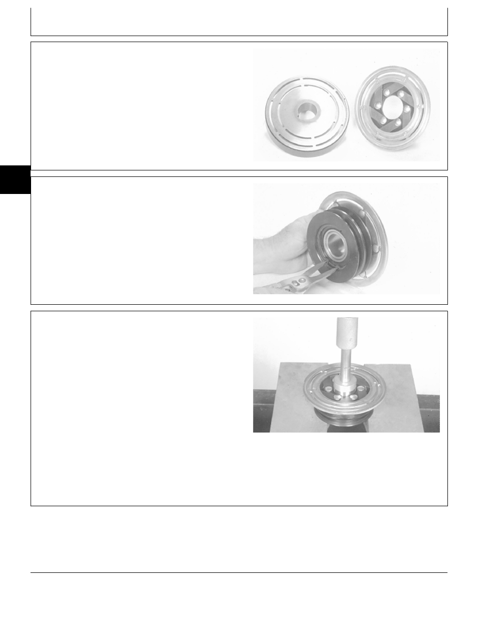 Disassemble Inspect And Assemble Front Pto Clutch John Deere 318 180 Wiring Diagram In Addition 445 Lawn Tractor User Manual Page 54 440