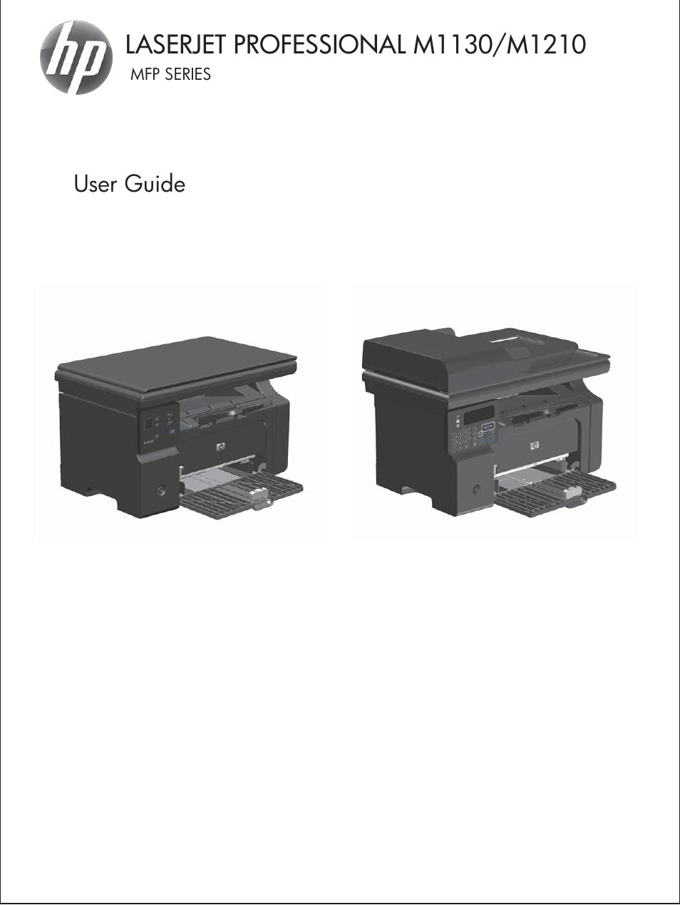 HP laserjet m1212nf User Manual | 284 pages | Also for: LaserJet  Professional m1212nf MFP SERIES, LaserJet Professional M1130 MFP SERIES,  LaserJet ...