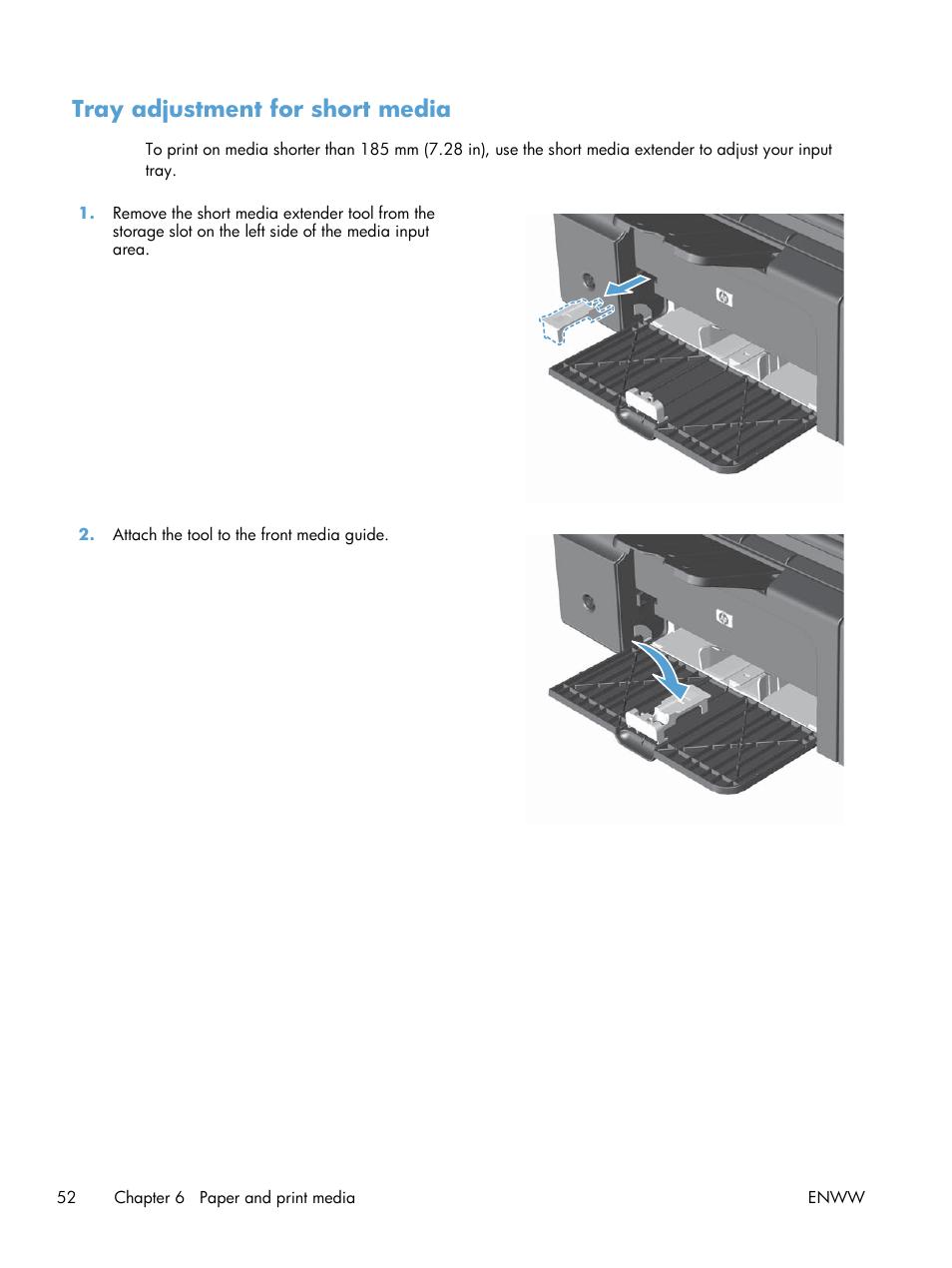 tray adjustment for short media hp laserjet m1212nf user manual rh manualsdir com HP CM2320nf MFP Driver HP LaserJet M4555 MFP