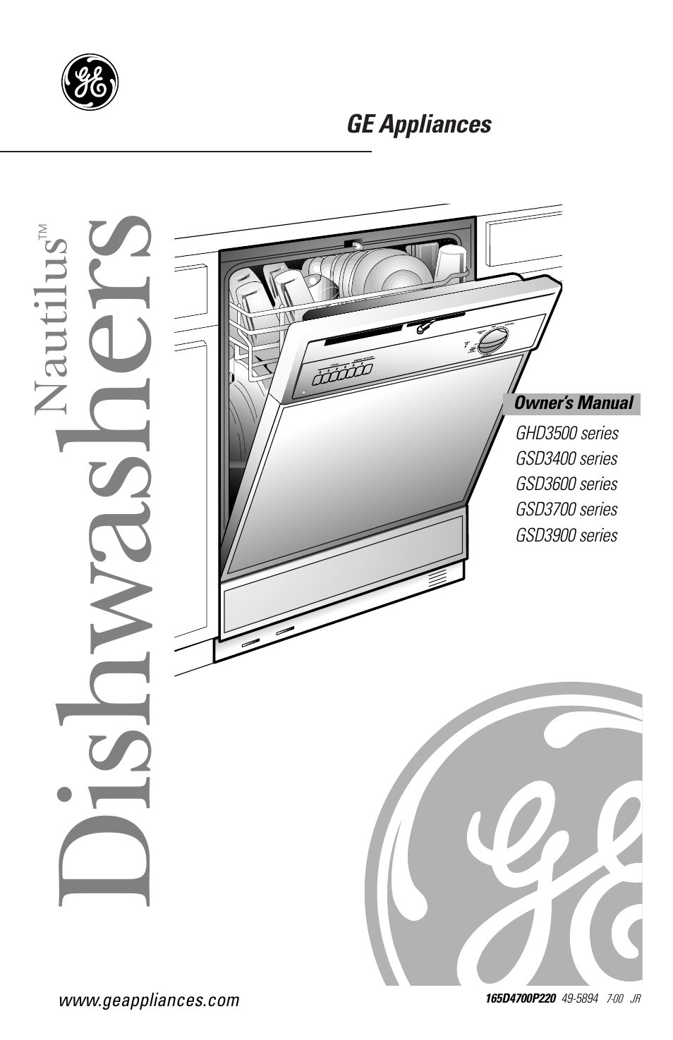 ge nautilus dishwasher user manual 32 pages also for nautilus rh manualsdir com ge nautilus dishwasher user guide GE Nautilus Dishwasher Won't Start