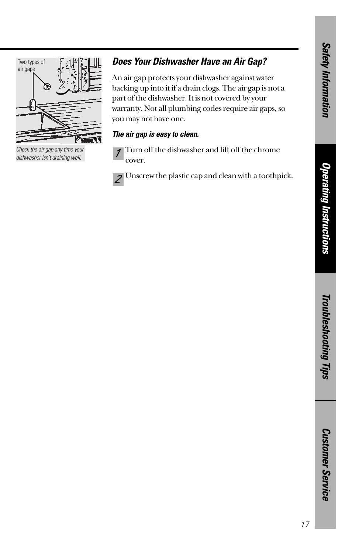 GE nautilus dishwasher User Manual | Page 17 / 32 | Also for: Nautilus  GHD3500 Series, Nautilus GSD3400 Series, Nautilus GSD3600 Series, Nautilus  GSD3700 ...