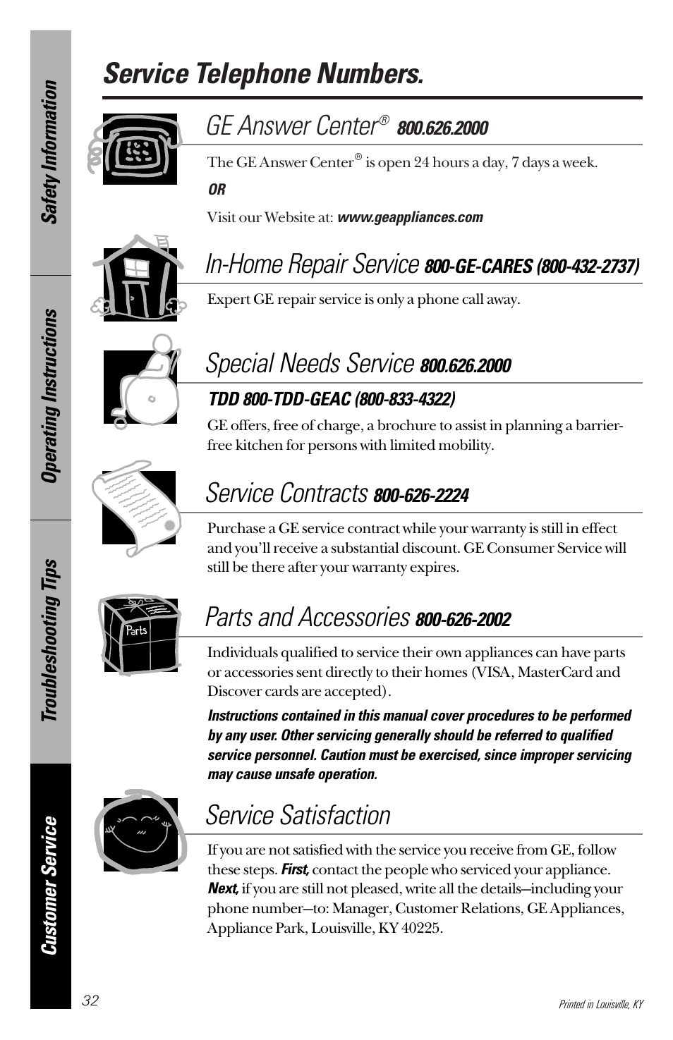 service telephone numbers ge answer center in home repair service rh manualsdir com GE Nautilus Dishwasher Repair ge nautilus dishwasher service manual