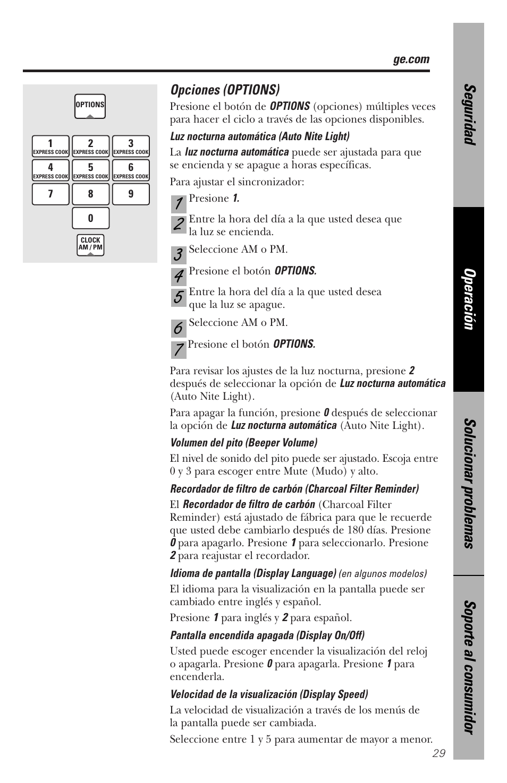 ge spacemaker xl1800 user manual page 73 88 original mode rh manualsdir com GE Logo GE Spacemaker Radio Cassette