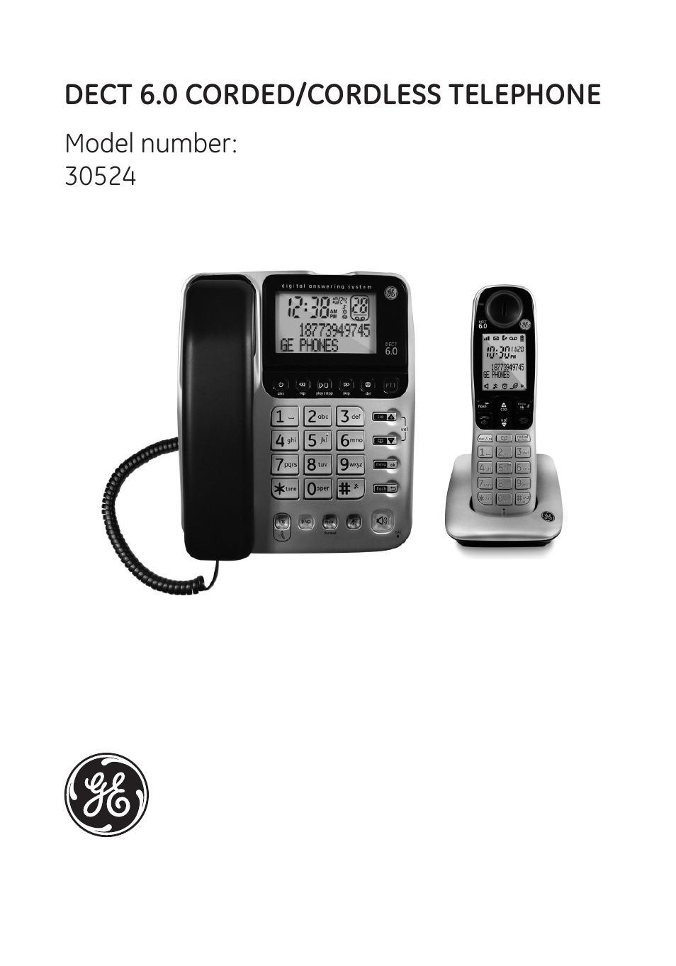 30784 dect 6. 0 bluetooth corded/cordless telephone user manual.