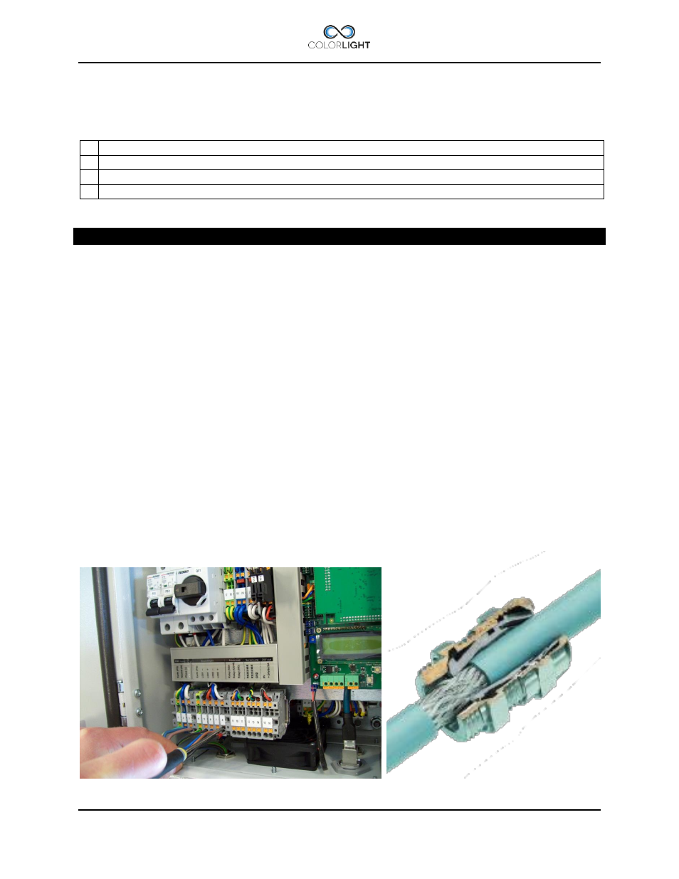 4 Electrical Box Installation Wiring Diagrams Are Attached Inside The Cover 84 Colorlight Cl25 Manual User Page 24 52