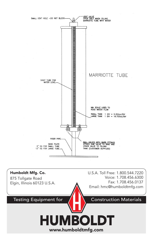 humboldt | humboldt hm-4502 double-ring infiltrometer user manual | page 4  / 4