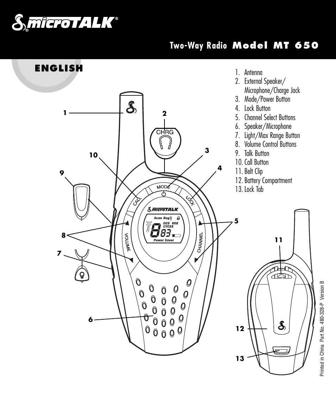 cobra electronics microtalk 650 user manual