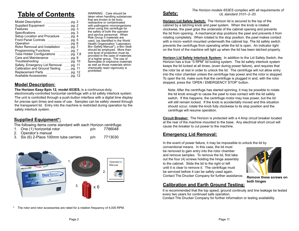 drucker diagnostics model 653es centrifuge user manual page 2 6 rh manualsdir com ASTM Centrifuge Tube 200 Ml Diagram IEC Centra Cl2 Centrifuge Manual