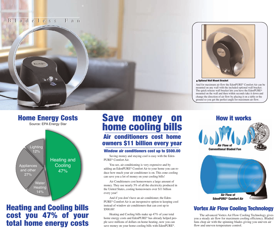 Edenpure Save Money On Home Cooling Bills Save Money On Your