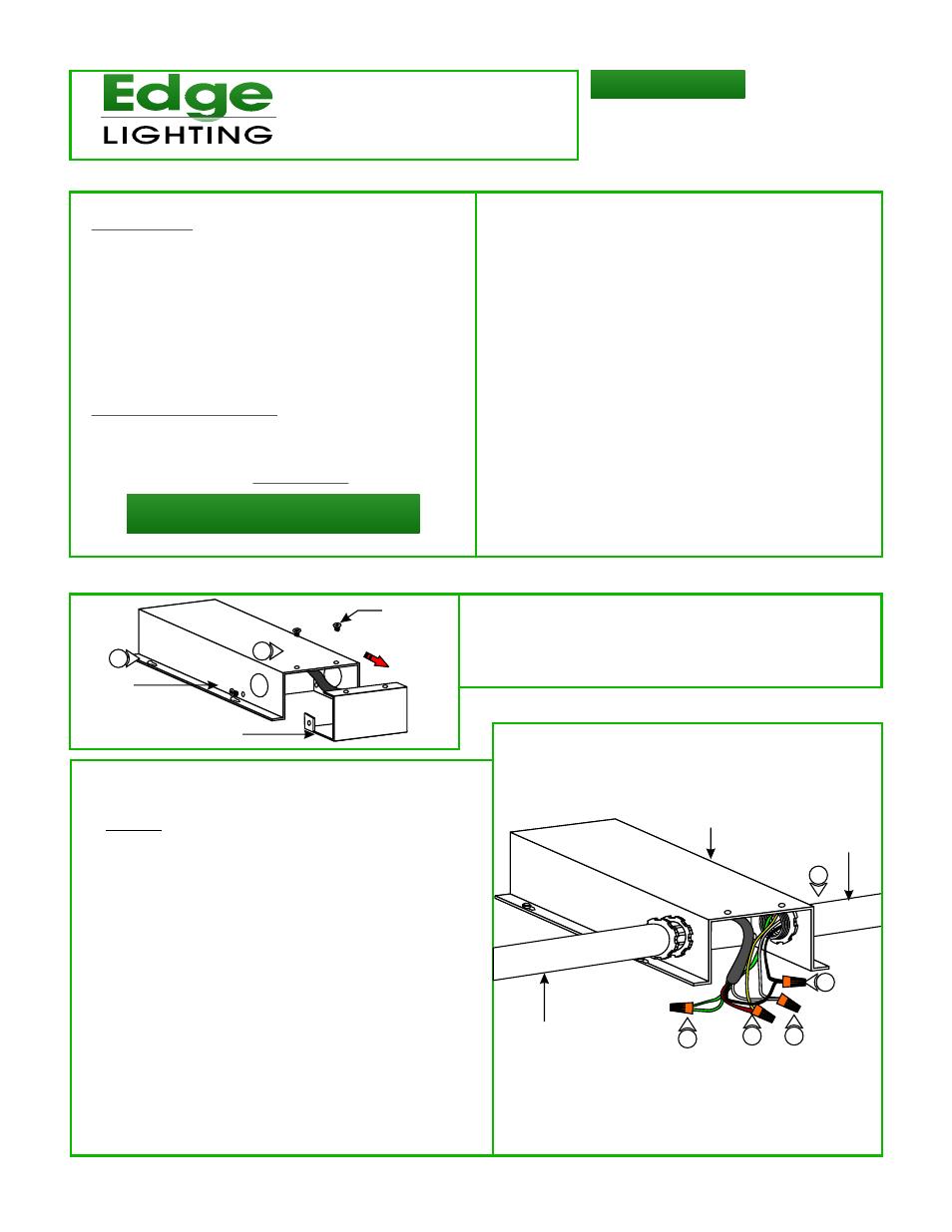 Edge Lighting PSB-60W-ELV-12VDC, 60 Watt 12 Volt DC Power Supply User  Manual | 2 pages