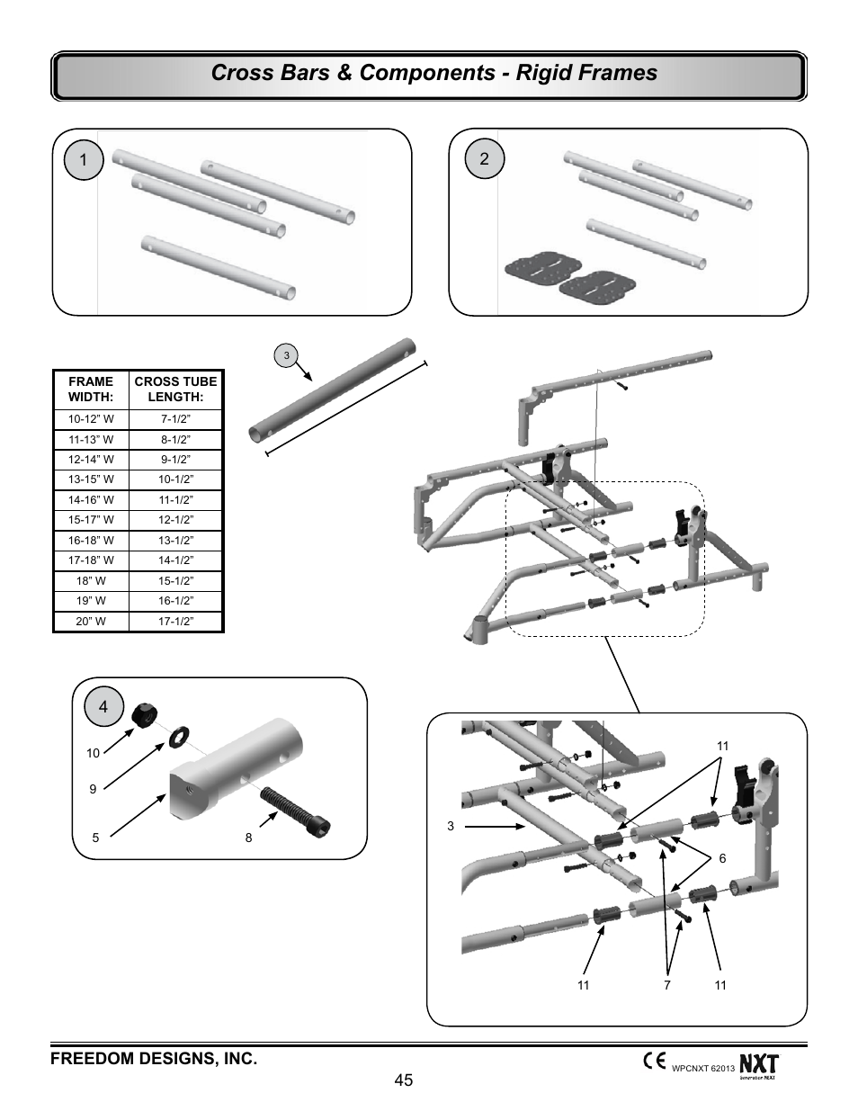 Cross bars - rigid frames, Cross bars & components - rigid frames ...