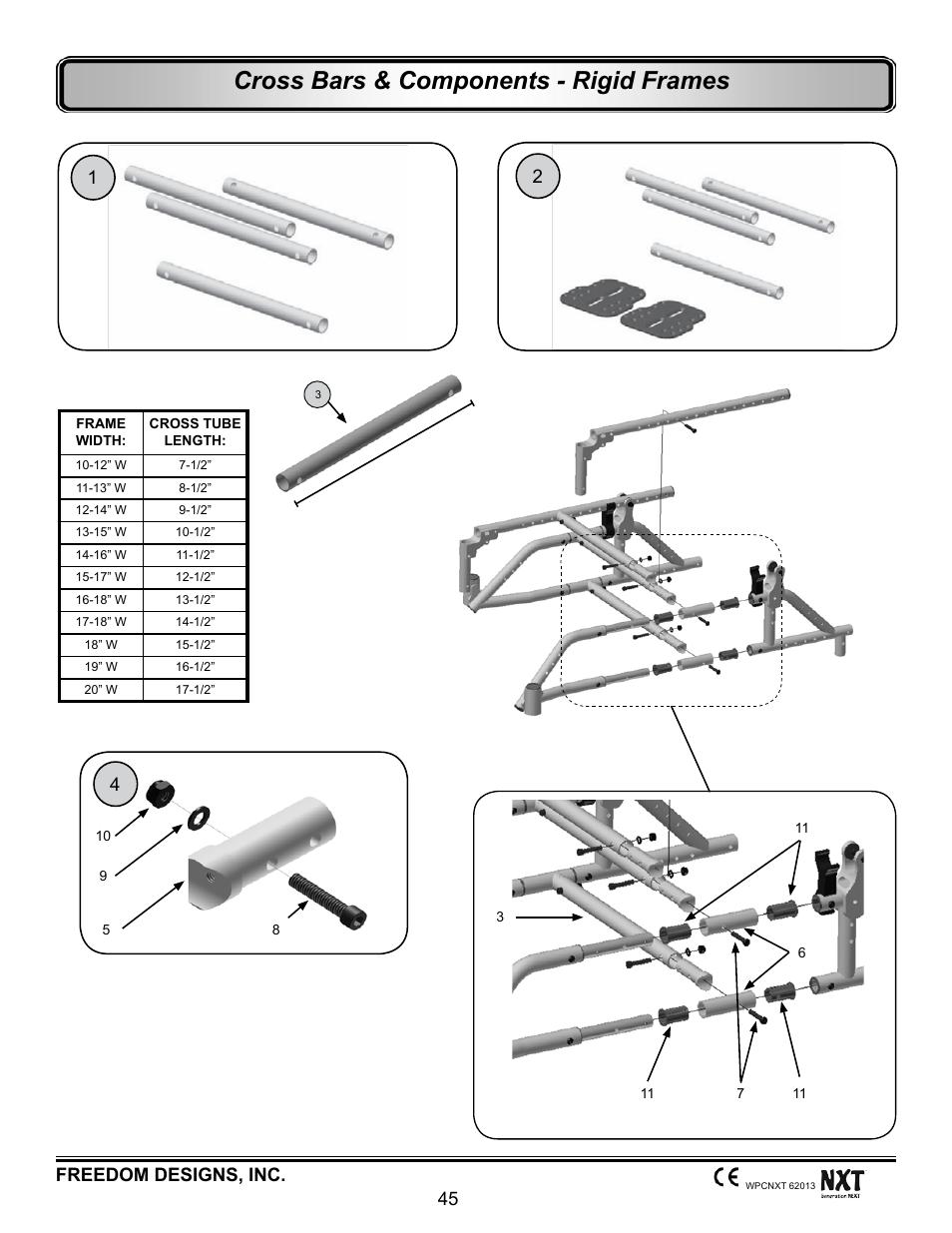 Cross bars - rigid frames, Cross bars & components - rigid frames ...