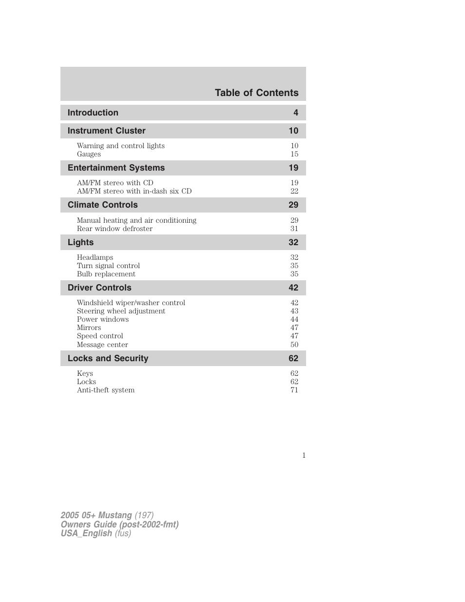 ford 2005 mustang v 1 user manual 240 pages rh manualsdir com 07 Mustang 05 mustang owners manual pdf