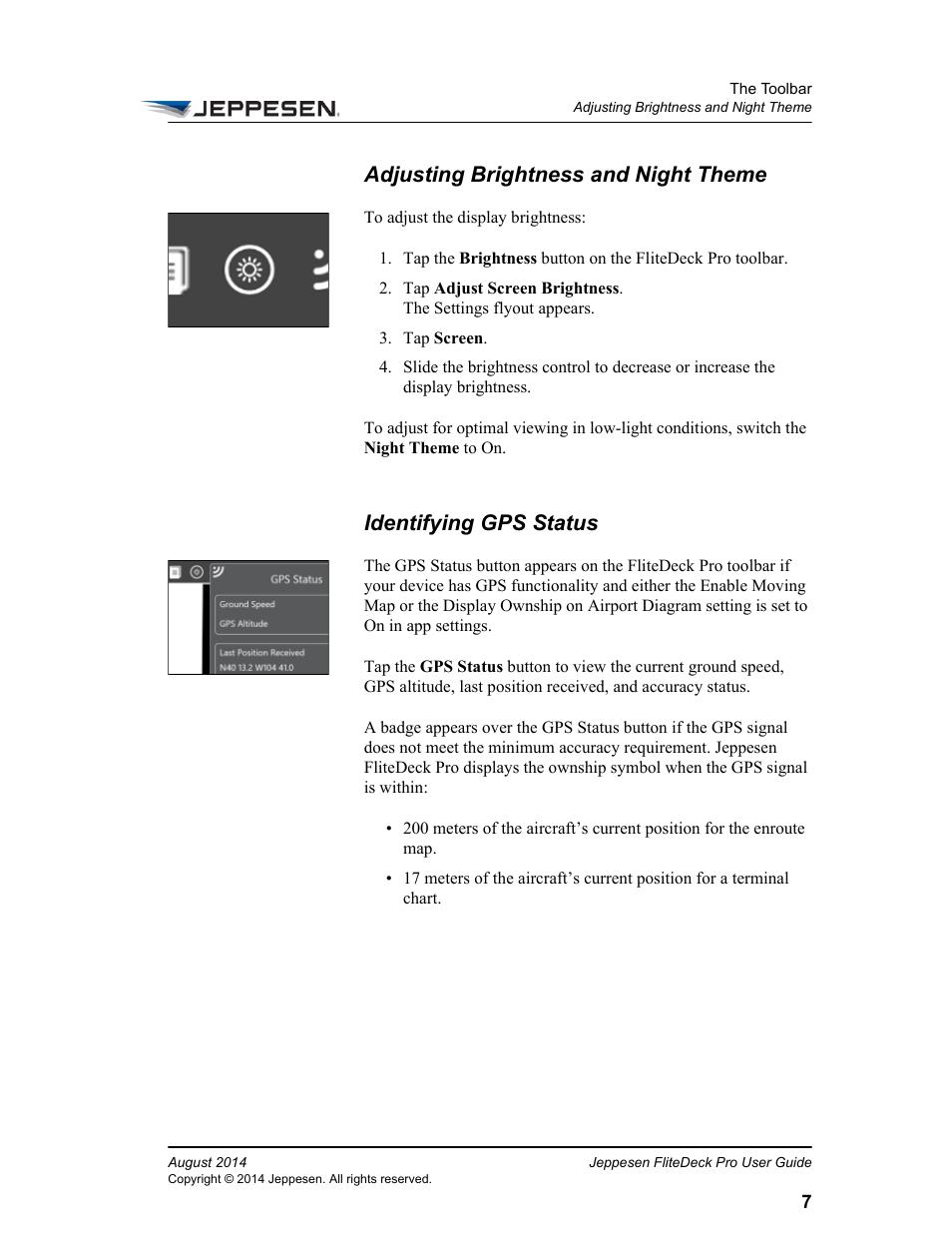 Adjusting Brightness And Night Theme Identifying Gps Status