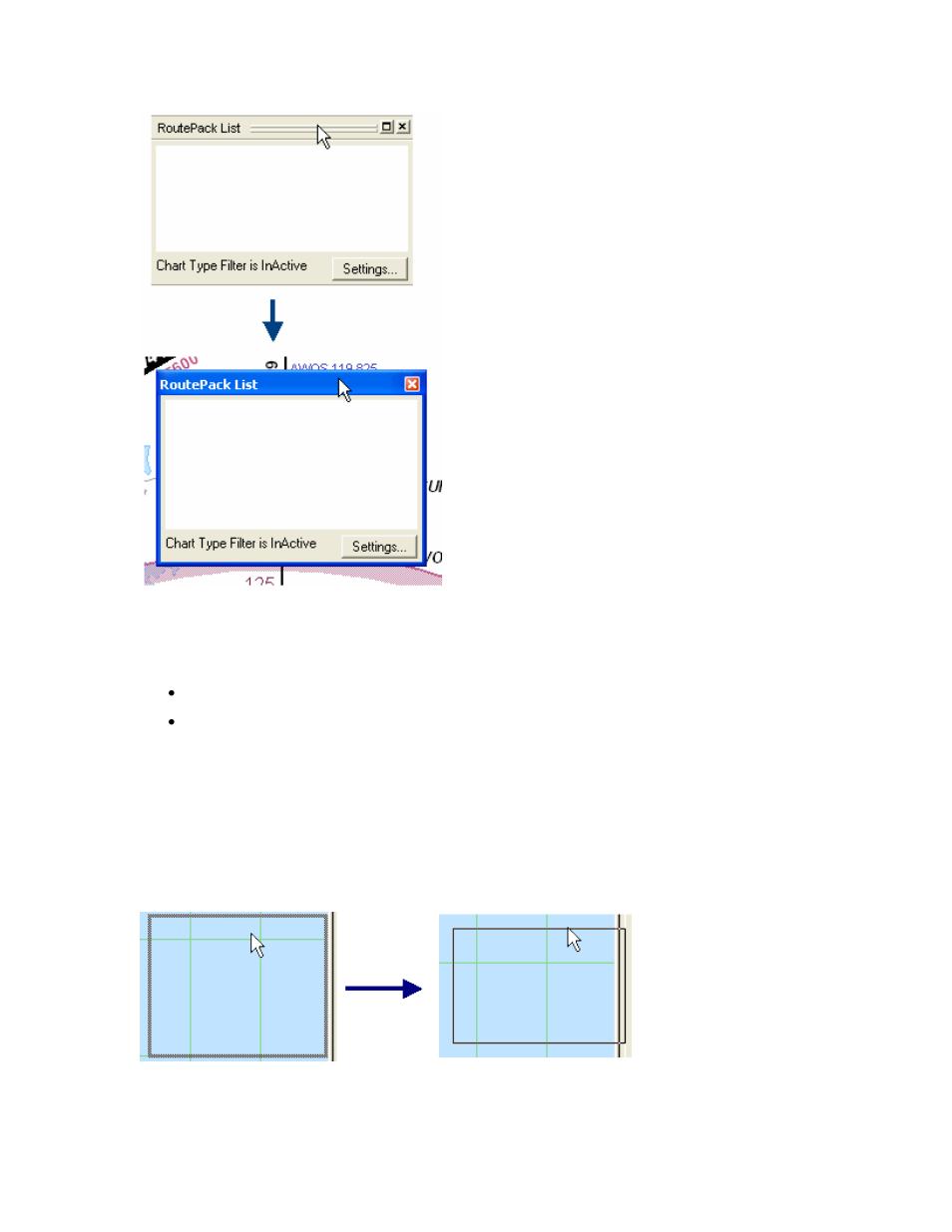 docking the list window resizing a list window jeppesen jeppview rh manualsdir com Guide Book Blip Scale User's Guide