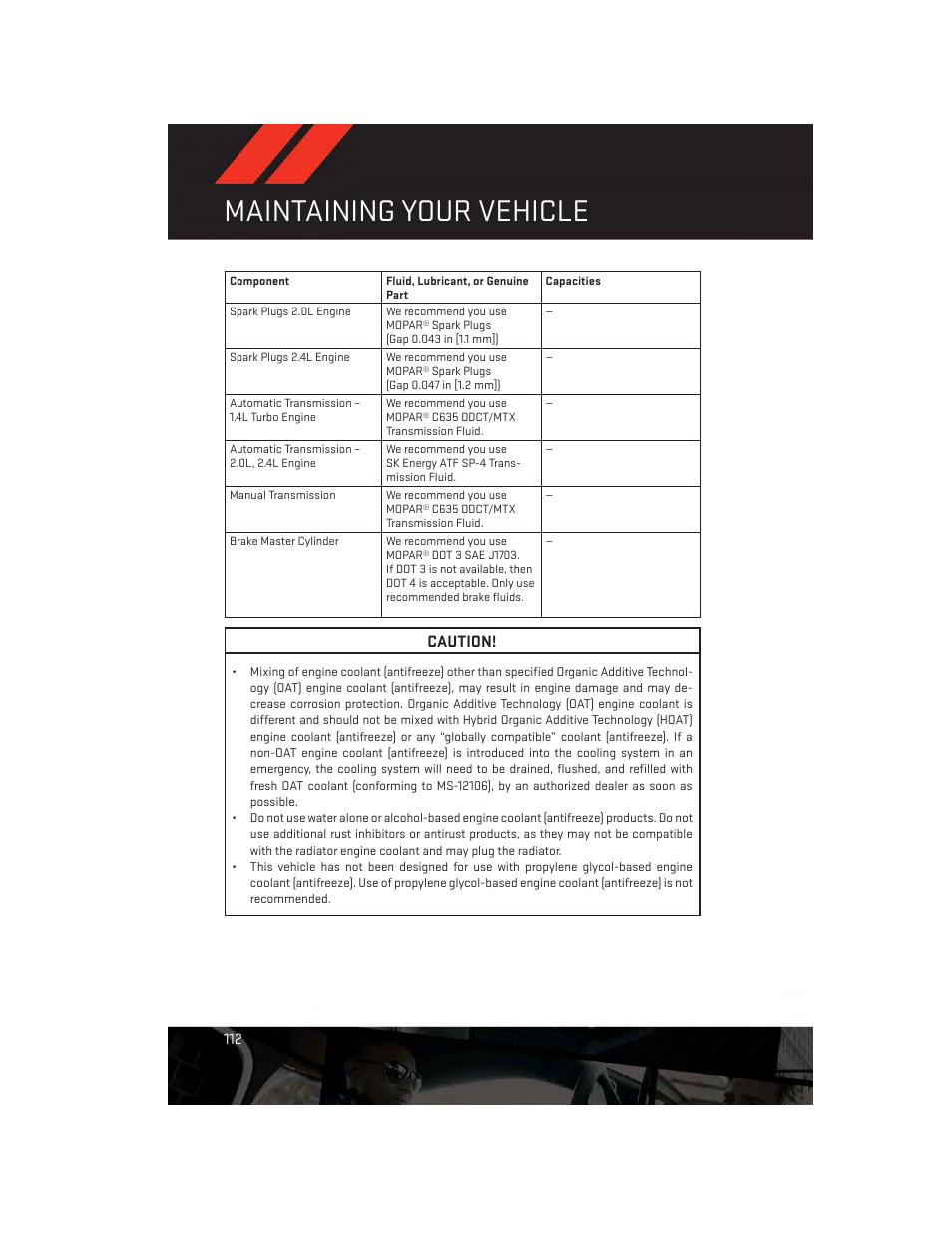 maintaining your vehicle caution dodge 2014 dart user guide rh manualsdir com dodge caravan 2014 user guide dodge user manual