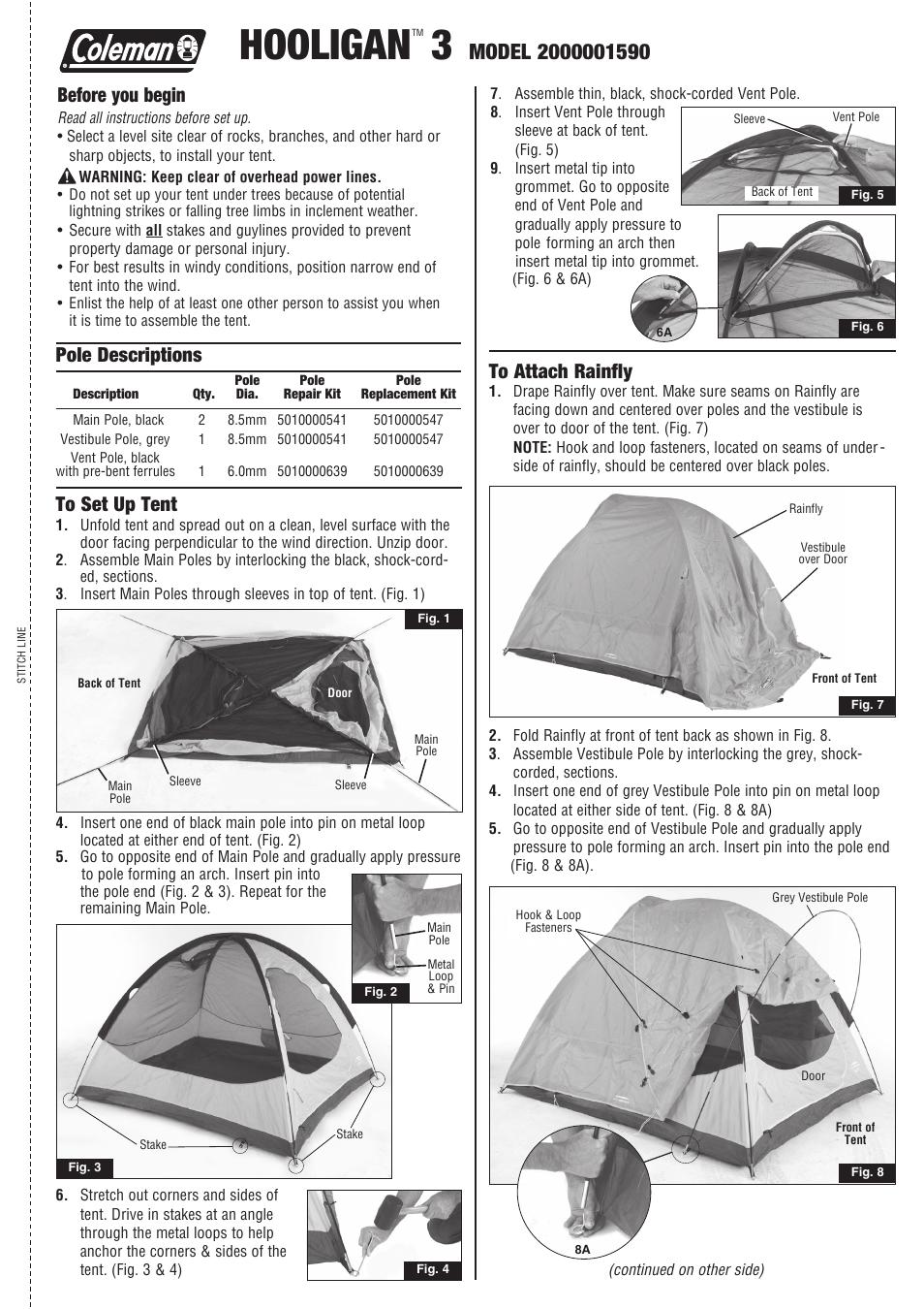 sc 1 st  manualsdir.com & Coleman HOOLIGAN 3 2000001590 User Manual | 2 pages