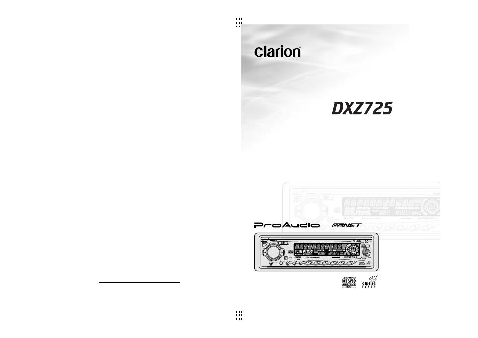 clarion dxz725 user manual 35 pages rh manualsdir com
