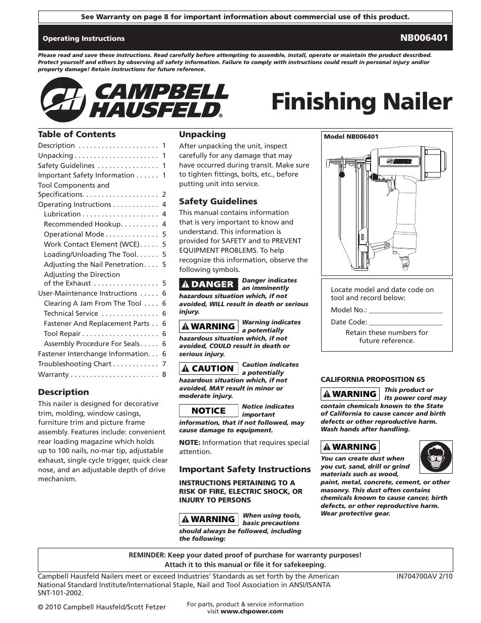 campbell hausfeld in704700av user manual 24 pages also for chn90498 rh manualsdir com Owner's Manual
