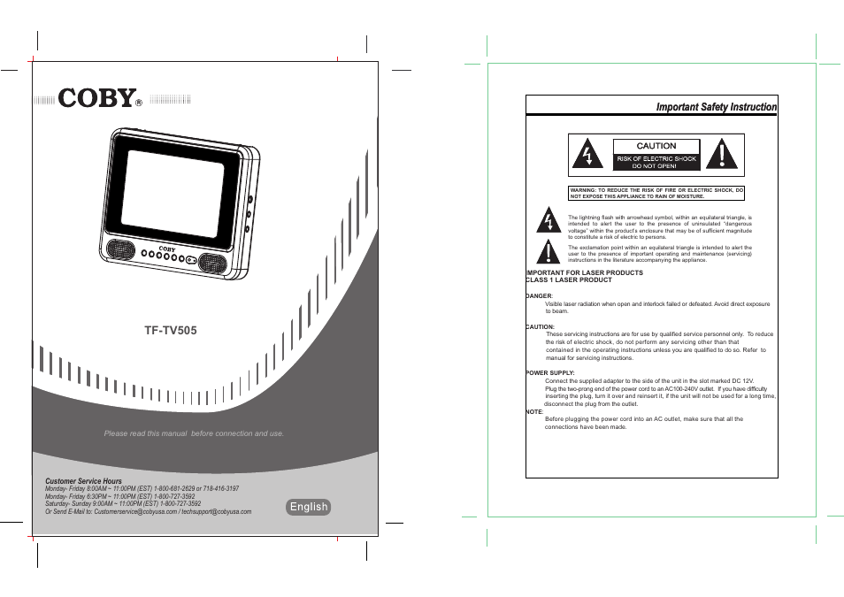 coby tf tv505 user manual 10 pages rh manualsdir com Word Manual Guide User Guide Template