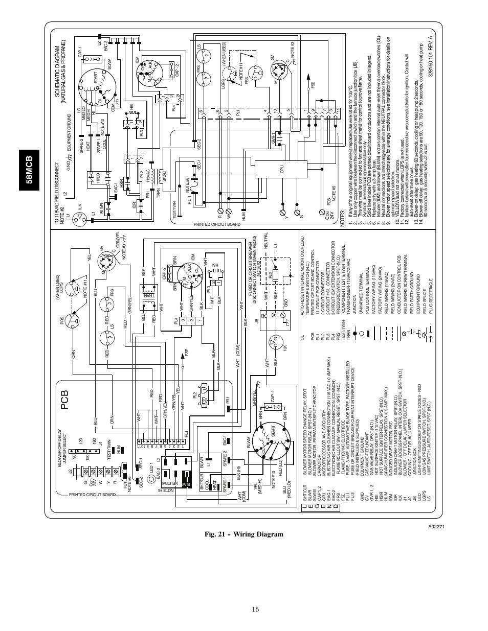 58mc B Fig 21 Wiring Diagram Carrier 58mcb User Manual Page 115 Vac Plug